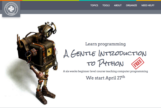Home page of the new Gentle Introduction to Python